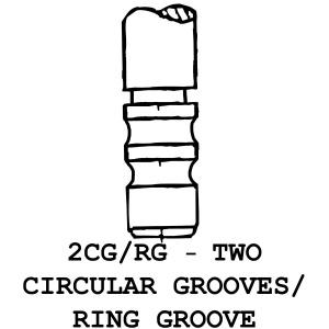 2CG/RG 2 Circular Grooves / Ring Groove