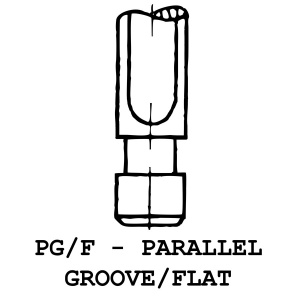 PG/F - Parallel Groove / Flat