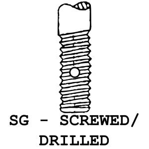 SC/D - Screwed / Drilled