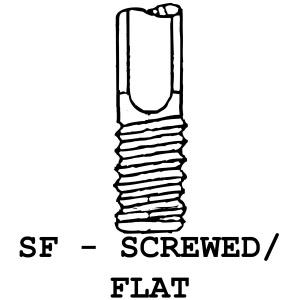 SC/F - Screwed Flat