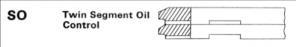 Twin Segment Oil Control
